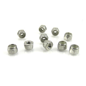 TRB RC 2.5mm 18-8 Stainless Steel Nylon Insert Hex Locknut 5mm Hex DIN-985 (10) - trb-rc-bearings