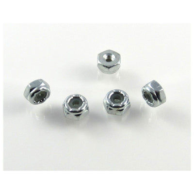 TRB RC 2-56 Hex Lock Nut Nylon Insert 1/4 Hex (5) - trb-rc-bearings