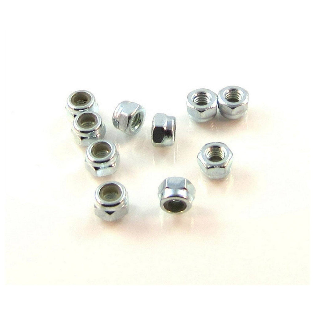 TRB RC 3mm Nylon Insert Hex Locknut 5.5mm Hex DIN-985 (10) - trb-rc-bearings