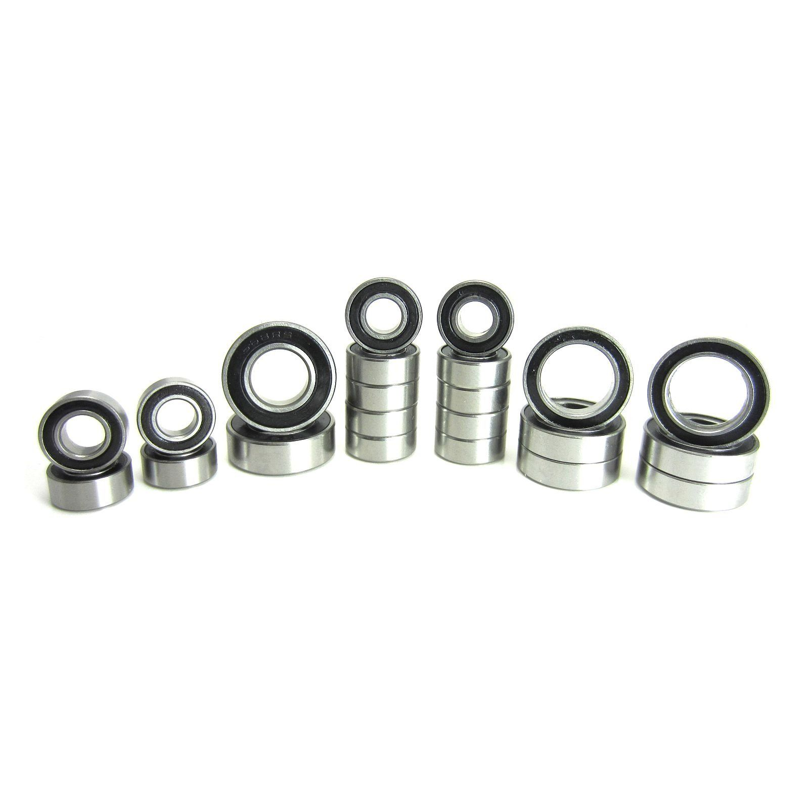 TRB RC Stainless Steel Precision Bearing Kit (22) Rubber Sealed Axial SCX10 - trb-rc-bearings