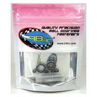 TRB RC Precision Ball Bearing Kit (18) Rubber Sealed Associated B4 T4 - trb-rc-bearings