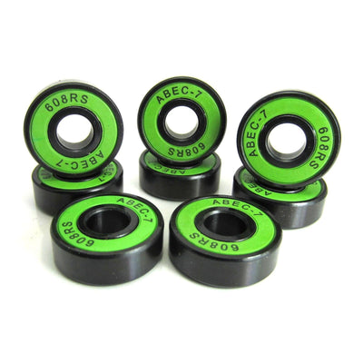 TRB RC 8x22x7mm BK-GR ABEC 7 Precision Skate Ball Bearings Rubber Sealed - trb-rc-bearings