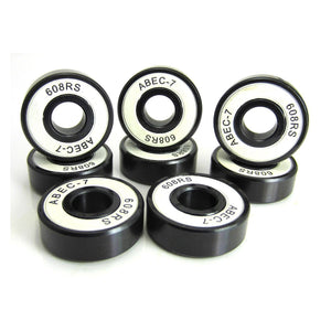 TRB RC 8x22x7mm BK-WH ABEC 7 Precision Skate Ball Bearings Rubber Sealed - trb-rc-bearings