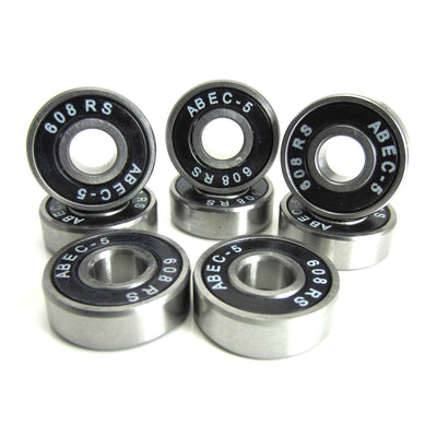 TRB RC 8x22x7mm SI-BK ABEC 5 Precision Skate Ball Bearings Rubber Sealed - trb-rc-bearings