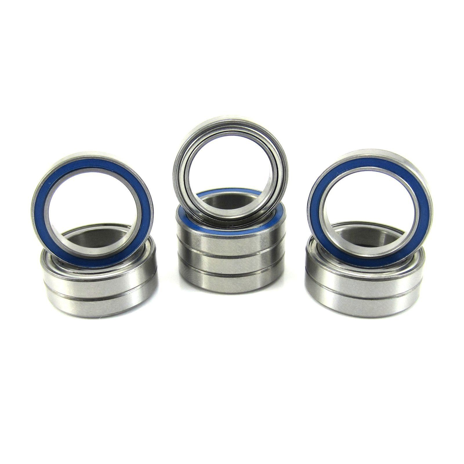 TRB RC 15x21x4mm Precision Ball Bearings ABEC 5 Hybrid Seals (10) - trb-rc-bearings