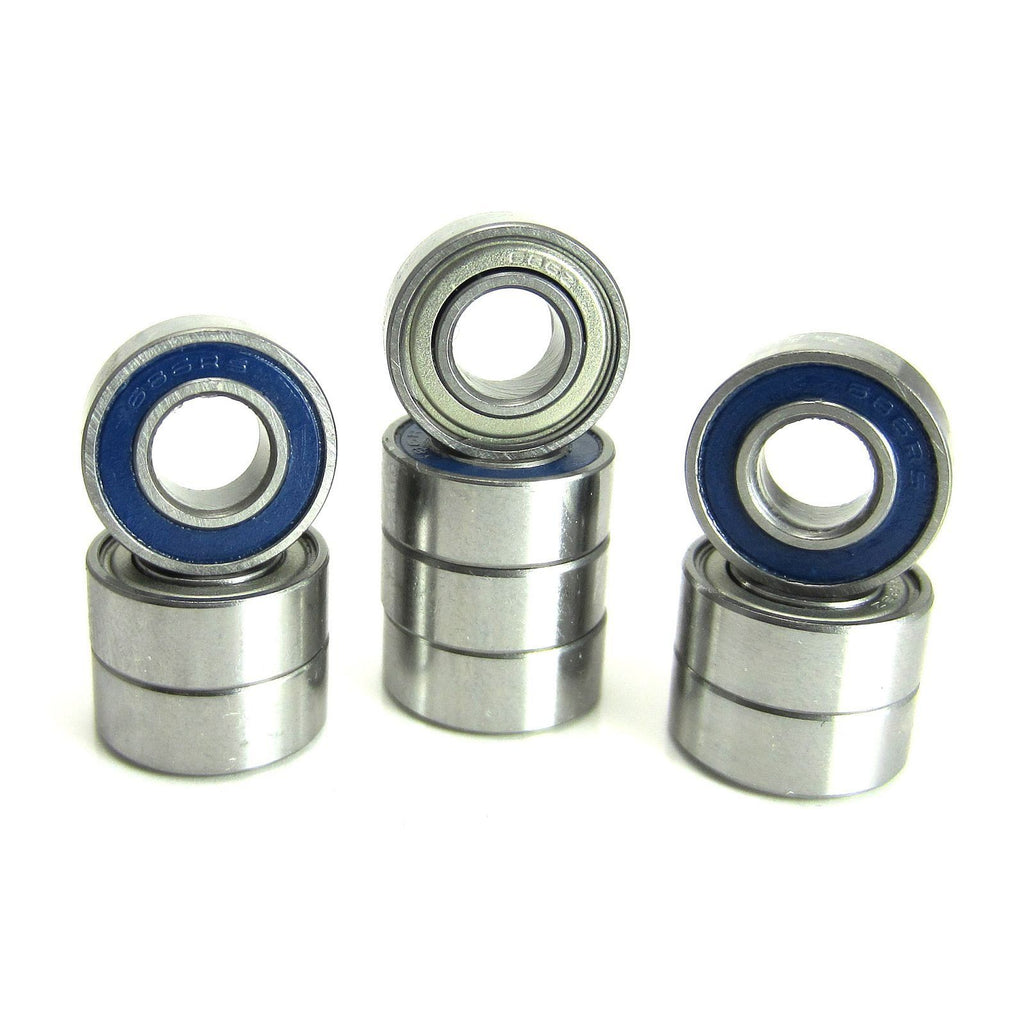 TRB RC 6x13x5mm Precision Ball Bearings ABEC 5 Hybrid Seals BLU (10) - trb-rc-bearings