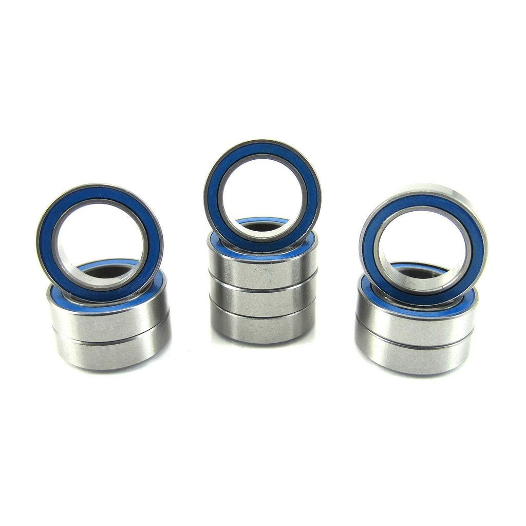 TRB RC 10x15x4mm Precision Ball Bearings ABEC 3 Rubber Sealed BLU (10) - trb-rc-bearings