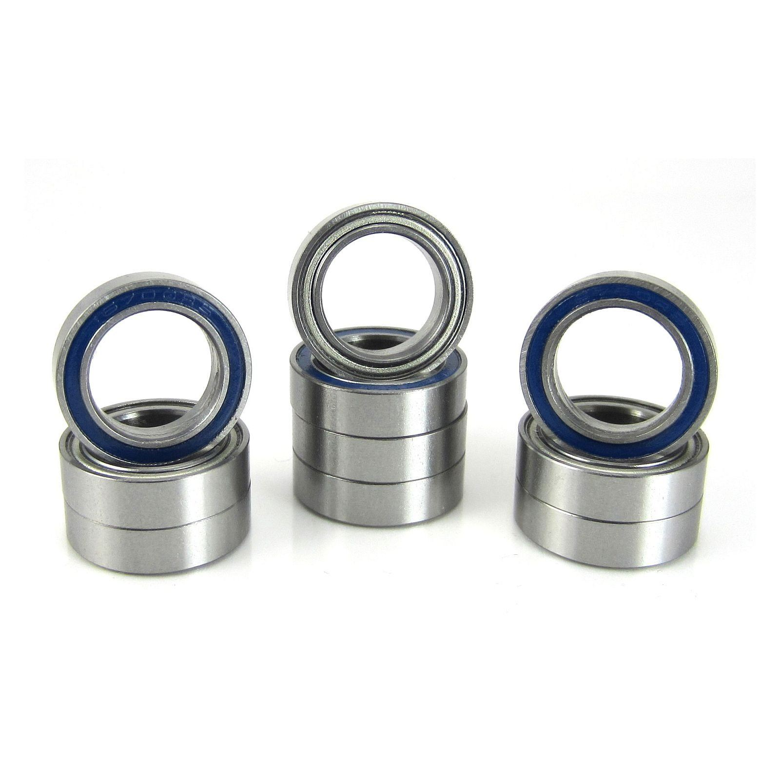 TRB RC 10x15x4mm Precision Ball Bearings ABEC 5 Hybrid Seals Blue (10) - trb-rc-bearings