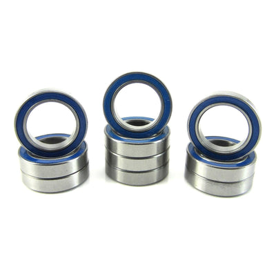 TRB RC 12x18x4mm Precision Ball Bearings ABEC 3 Rubber Sealed BLU (10) - TRB RC®