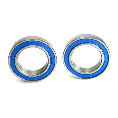 TRB RC 15x24x5mm Precision Ball Bearings ABEC 3 Blue Rubber Seals (2) - TRB RC®