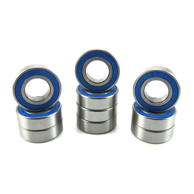 TRB RC 8x16x5mm Precision Ball Bearings ABEC 3 Rubber Sealed BLU (10) - TRB RC®
