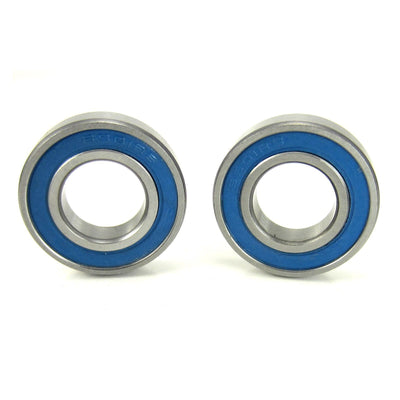 TRB RC 12x24x6mm Precision Ball Bearings ABEC 3 BLU Rubber Seals (2) - trb-rc-bearings