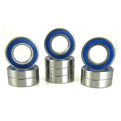 TRB RC 15x28x7mm Precision Ball Bearings ABEC 3 BLU Rubber Seals (10) - TRB RC®