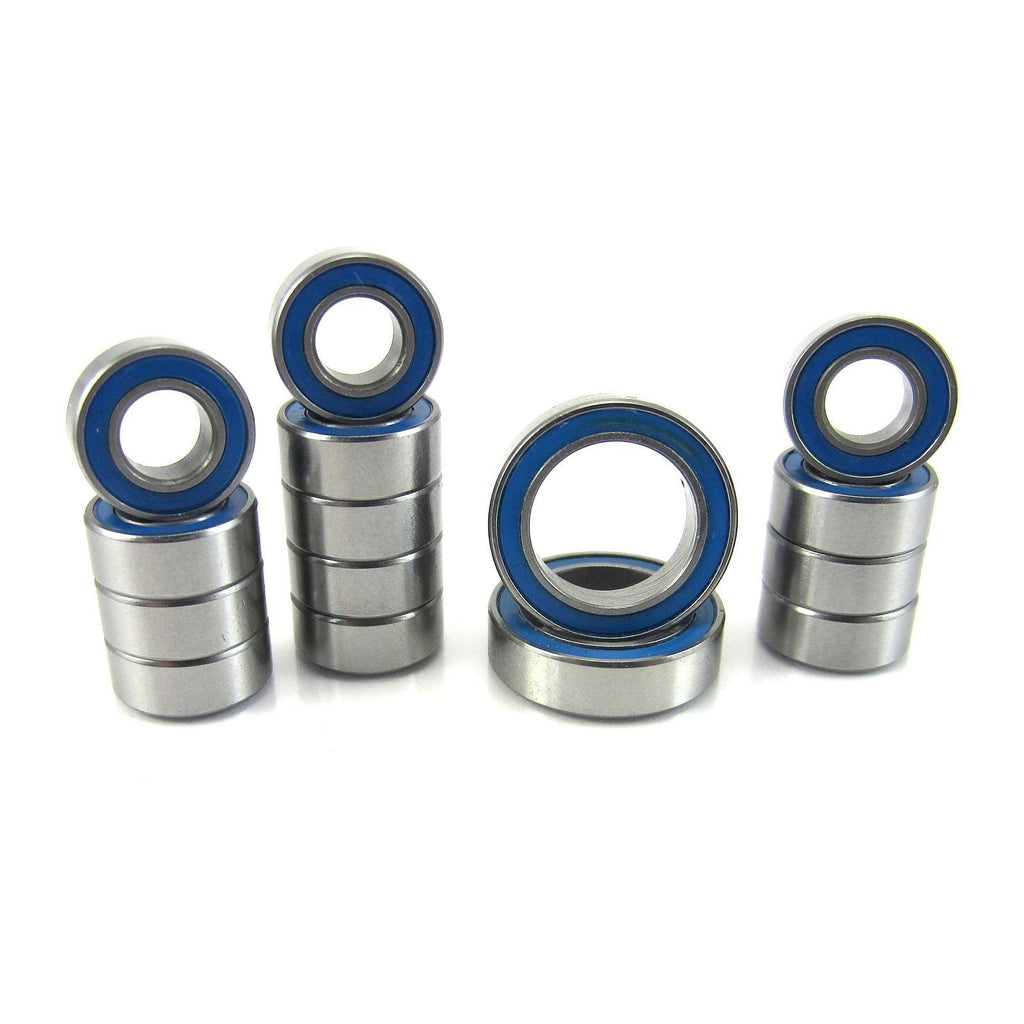 TRB RC Precision Ball Bearing Kit (15) BLU Sealed ECX 1/10 2WD Boost, Ruckus, Torment - trb-rc-bearings