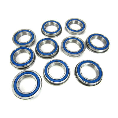 TRB RC 15x24x5mm Flanged Precision Ball Bearings ABEC 3 BLU Rubber Seals (10) - TRB RC®