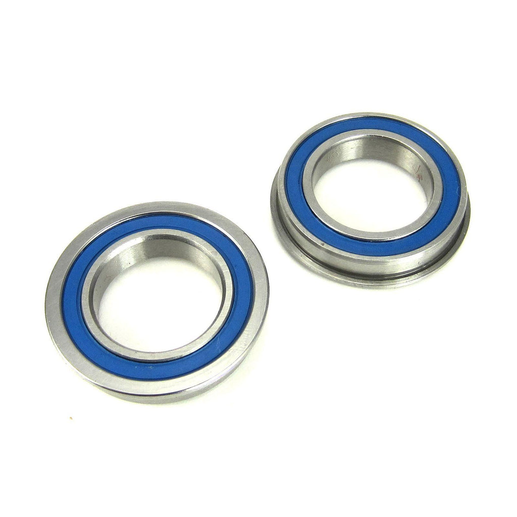 TRB RC 15x24x5mm Flanged Precision Ball Bearings ABEC 3 BLU Rubber Seals (2) - TRB RC®