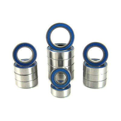 TRB RC Precision Ball Bearing Kit (15) Blue Rubber Sealed Latrax 1/18 4WD Rally Teton - TRB RC®