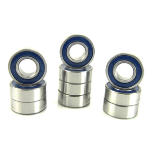 TRB RC 5x11x4mm Precision Oiled Ball Bearings Rubber Sealed BLU (10) - TRB RC®