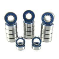 TRB RC Precision Ball Bearing Kit (19) Rubber Sealed BLU Traxxas Rustler XL-5 VXL - trb-rc-bearings