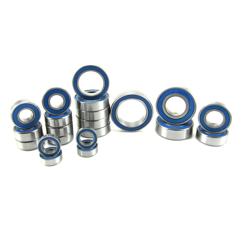 TRB RC Precision Ball Bearing Kit BLU (21) Rubber Sealed Traxxas Slash 4x4 VXL - trb-rc-bearings