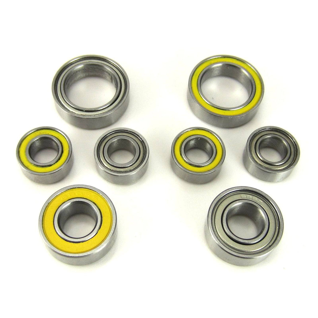 TRB RC Ceramic Hub Carrier Bearing Set Yellow Associated B6 / B6D - trb-rc-bearings