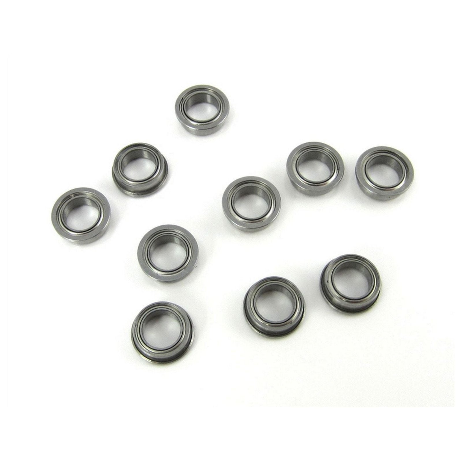 TRB RC 1/4x3/8x1/8 Flanged Precision Ceramic Ball Bearings Metal Shields (10) - trb-rc-bearings