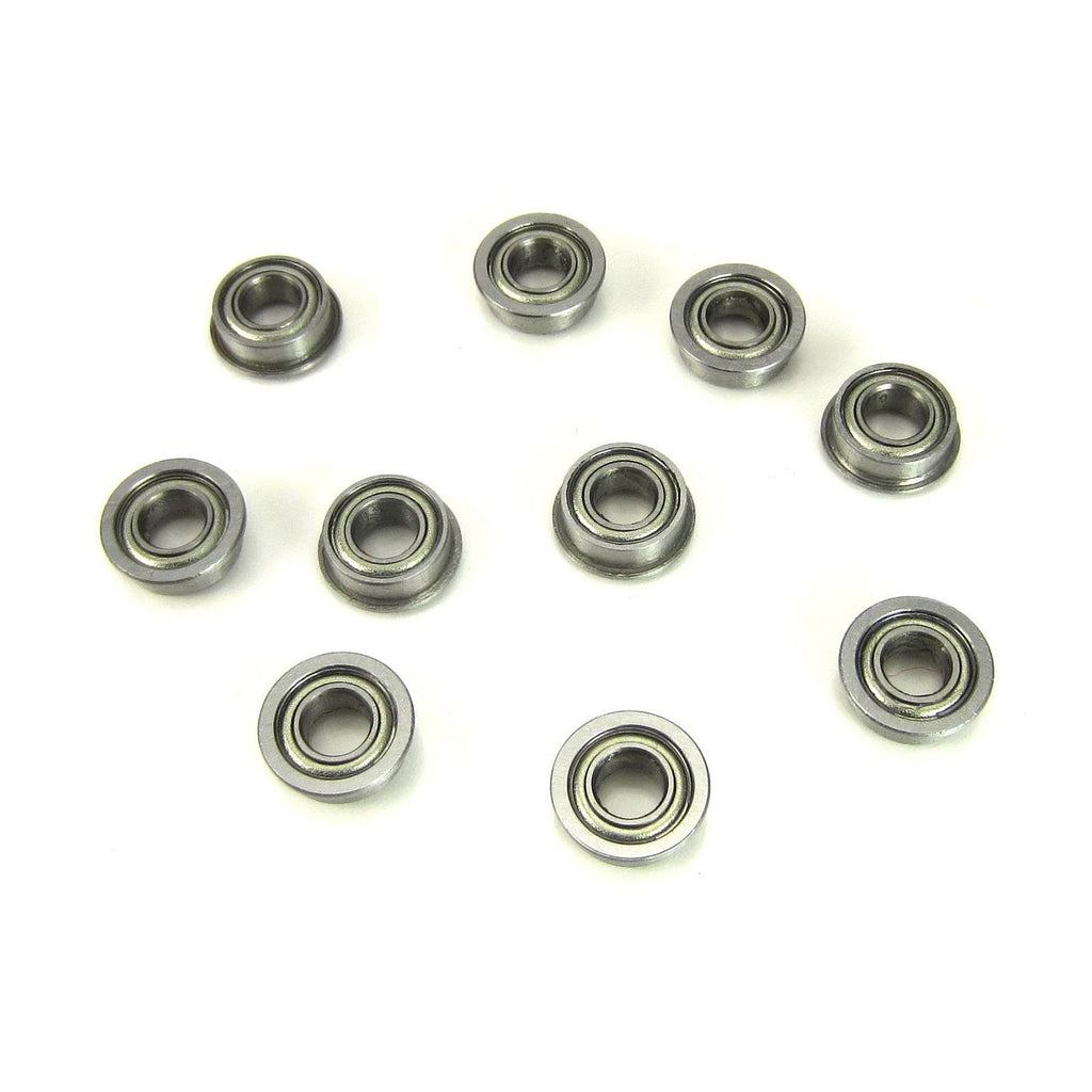 TRB RC 4x8x3mm Flanged Precision Ball Bearings Metal Shields (10) - TRB RC®