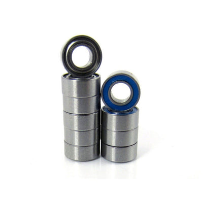 1/8x1/4x7/64 Precision Ball Bearings ABEC 5 Hybrid Seals Blue (10) - trb-rc-bearings