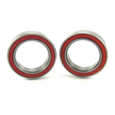 TRB RC 12x18x4mm Precision Ceramic Ball Bearings Red Rubber Seals (2) - trb-rc-bearings