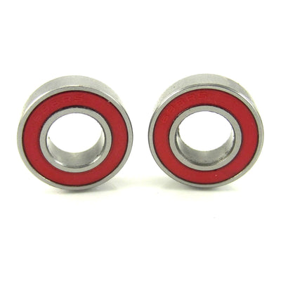 TRB RC 8x16x5mm Precision Ceramic Ball Bearings Red Rubber Seals (2) - TRB RC®