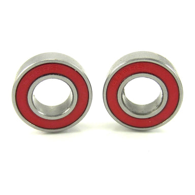 TRB RC 8x16x5mm Precision Ceramic Ball Bearings Red Rubber Seals (2) - trb-rc-bearings