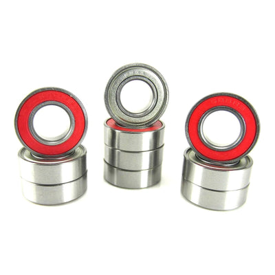 TRB RC 8x16x5mm Precision Ball Bearings ABEC 3 Hybrid Seals RED (10) - TRB RC®