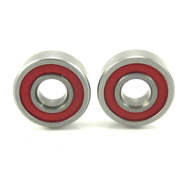 TRB RC 5x13x4mm Precision Ceramic Ball Bearings Red Rubber Seals (2) - trb-rc-bearings