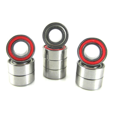 TRB RC 5x10x4mm Precision Ball Bearings ABEC 3 Hybrid Seals RED (10) - trb-rc-bearings