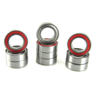 TRB RC 6x10x3mm Precision Ball Bearings ABEC 3 Hybrid Seals RED (10) - trb-rc-bearings