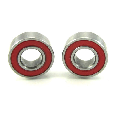 TRB RC 5x11x4mm Precision Ceramic Ball Bearings Red Rubber Seals (2) - TRB RC®