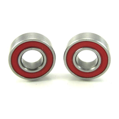TRB RC 5x11x4mm Precision Ceramic Ball Bearings Red Rubber Seals (2) - trb-rc-bearings