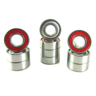 TRB RC 5x11x4mm Precision Ball Bearings ABEC 3 Hybrid Seals RED (10) - trb-rc-bearings