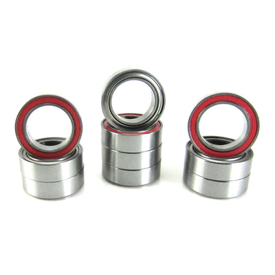 TRB RC 8x12x3.5mm Precision Ball Bearings ABEC 3 Hybrid Seals RED (10) - trb-rc-bearings