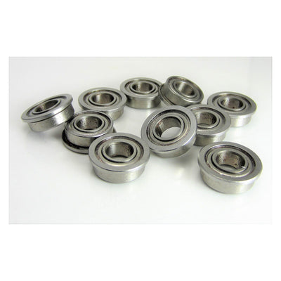 TRB RC (10) 7x14x5mm Flanged Precision Stainless Steel Ball Bearing, Fishing Reels - TRB RC®