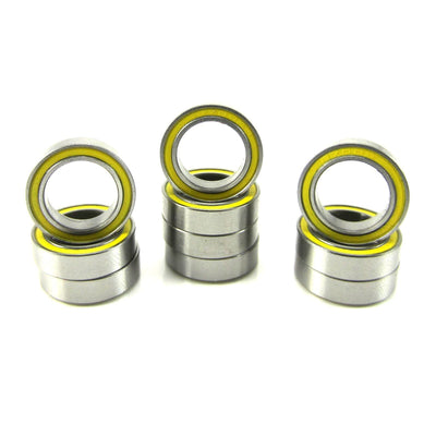 TRB RC 10x15x4mm Precision Ball Bearings ABEC 3 Rubber Sealed YEL (10) - trb-rc-bearings