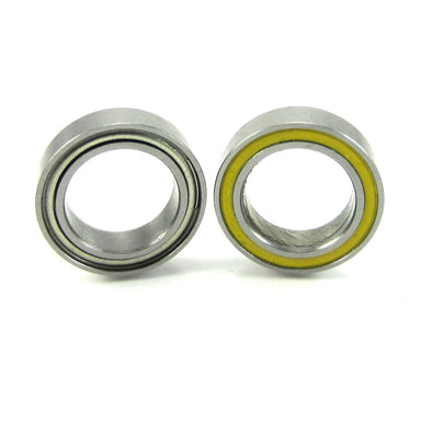 TRB RC 10x15x4mm Precision Ceramic Ball Bearings Hybrid Seals YEL (2) - trb-rc-bearings