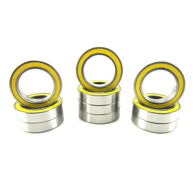 TRB RC 12x18x4mm Precision Ball Bearings ABEC 3 Rubber Sealed YEL (10) - trb-rc-bearings