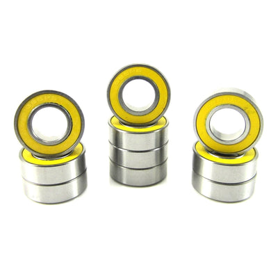 TRB RC 8x16x5mm Precision Ball Bearings ABEC 3 Rubber Sealed YEL (10) - trb-rc-bearings
