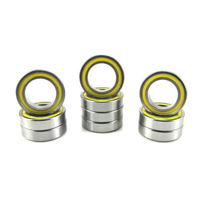 TRB RC 10x16x4mm Precision Ball Bearings ABEC 3 YEL Rubber Sealed (10) - trb-rc-bearings