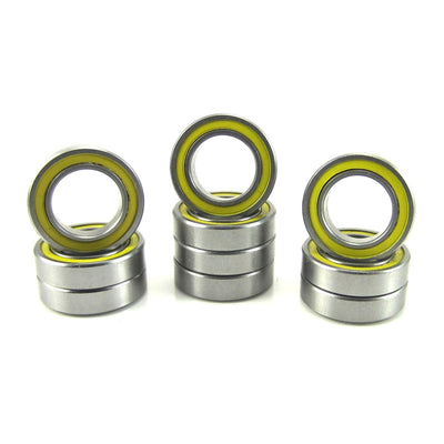 TRB RC 3/8x5/8x5/32 Precision Ball Bearings ABEC 3 YEL Rubber Sealed (10) - trb-rc-bearings