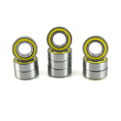 TRB RC 3/16x3/8x1/8 Precision Ball Bearings ABEC 3 YEL Rubber Sealed (10) - TRB RC®