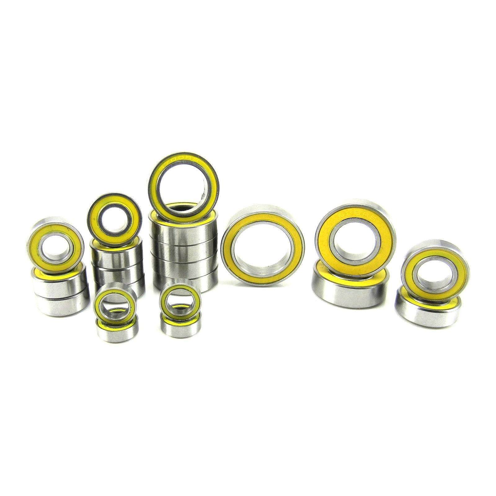 TRB RC Precision Ball Bearing Kit Yellow (21) Traxxas Rustler 4x4 VXL - trb-rc-bearings