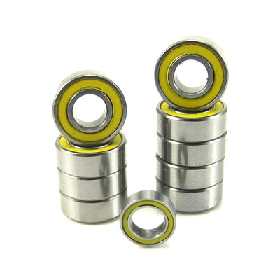 TRB RC Precision Ball Bearing Kit (10) YEL Rubber Sealed Tamiya Grasshopper - TRB RC®