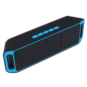 Portable Wireless Bluetooth Speaker Hand-free Heavy Bass FM Radio For Smart Phone Tablets Built in 1800mAh Battery